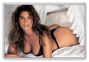 Cindy Crawford (Lingerie) Fridge Magnet. Supermodel